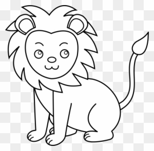 Lion Black And White Clip Art