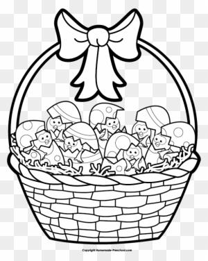 Easter Basket Drawings Happy Easter Drawings Of Easter Baskets