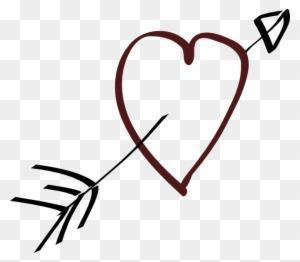 Free Vector Valentine Heart Arrow Clip Art Heart And Arrow Clipart Free Transparent Png Clipart Images Download