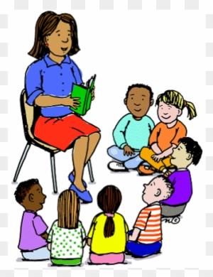 school kids art class clip art teacher is reading a story free