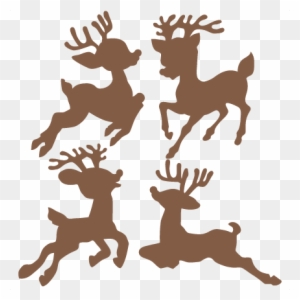 Christmas Reindeer Silhouette.Reindeer Silhouette Clipart Transparent Png Clipart Images
