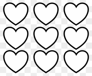 Sure Fire Valentine Hearts To Color Simplistic Images - Valentines Day Hearts Coloring Pages