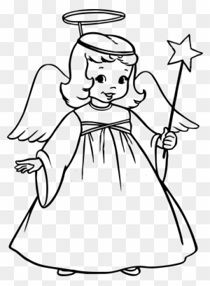 Free Printable Angel Coloring Pages For Kids | Angel coloring ... | 408x300