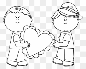 Valentine Images Black And White - Valentines Day Clip Art Black And White