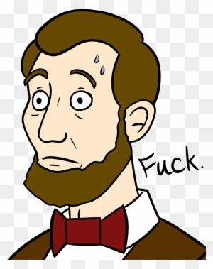Nervous Abe Lincoln By Gyzmo Grim Cartoon Free Transparent Png