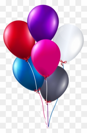 Happy Birthday With Balloons Transparent Clip Art Transparent