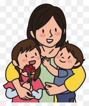 Mother And Children Gambar Ibu Dan Anak Kartun Free Transparent Png Clipart Images Download