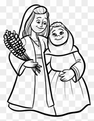 Old Testament Coloring Pages Ruth And Naomi Page