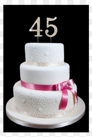 45th Birthday Wedding Anniversary Number Cake Topper Happy 7th