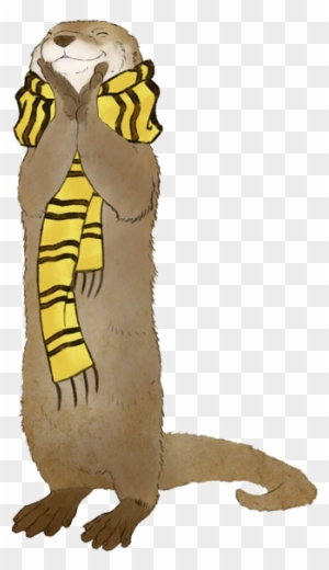 123 1234482 have a happy otter in a hufflepuff scarf mushu