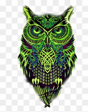 Mandala Baykuş Black Blackandwhite Diseños De Tatuajes De Buhos