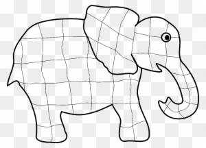 African Elephant Coloring Book Child Clip Art - Elephant Colouring