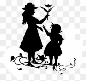Mother S Day Silouette Mother And Baby Logo Png Free