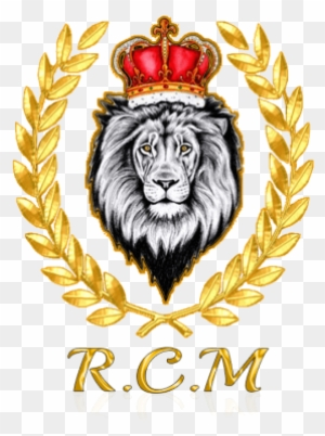 R C M Lion With Crown Tattoo Design Free Transparent Png