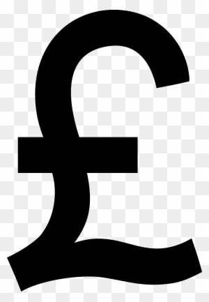 Black Pound Sterling Symbol Black Pound Sign Free Transparent