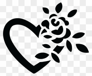 Rose Flower Clipart Black And White Transparent Png Clipart Images
