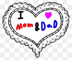 I Love My Mom And Dad By Roxaspikachu Happy Valentines Day Coloring Pages Free Transparent Png Clipart Images Download
