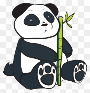 Bamboo Eating Cosmic Panda Clip Art At Clker Gambar Panda Bergerak