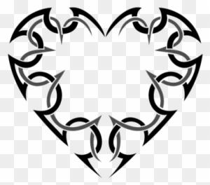 bird rose ribbon heart valentine tattoo set vector tribal heart Rockabilly Clip Art picture heart tattoos images tribal heart tattoo designs