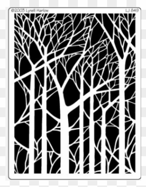 bare trees tree paper cut out template free transparent png