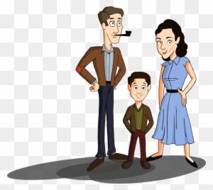 1950 s nuclear family by morningsun12 cartoon image of nuclear
