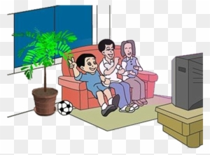 Free Clipart Of Kids Watching Tv Watch Tv Clipart Black