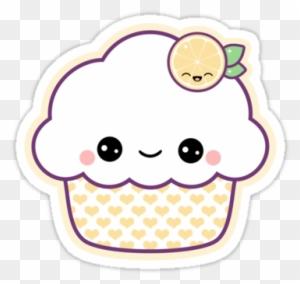 Super Kawaii Lemon Nom Nom Cupcake Stickers Cute Sticker Free Transparent Png Clipart Images Download