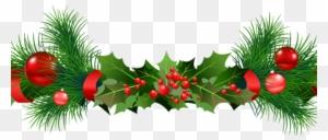 peaceful design ideas green christmas garland garlands christmas garland border transparent - Green Christmas Garland