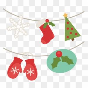 Digital Scrapbooking Christmas Banner Free Transparent Png Clipart Images Download