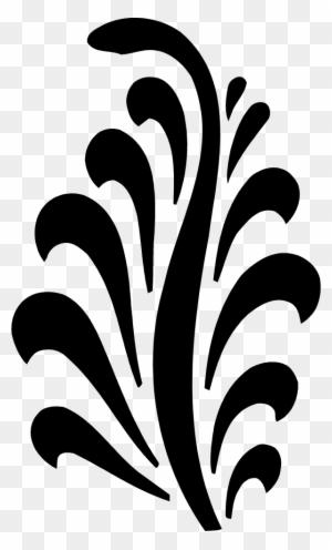 White Black Simple Star Pattern Figure Design Islamic Design