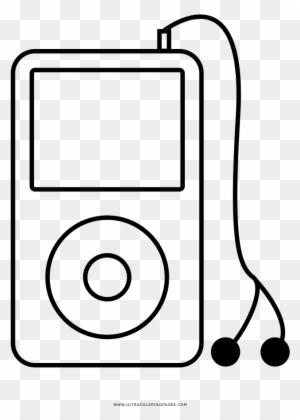 Ipod Coloring Page - Ipod Para Dibujar - Free Transparent PNG ...
