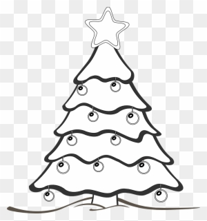xmas tree clipart black and white draw a christmas tree