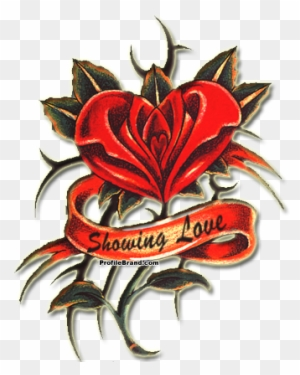 Heart Rose Tattoo Hearts And Roses Tattoos Free Transparent Png