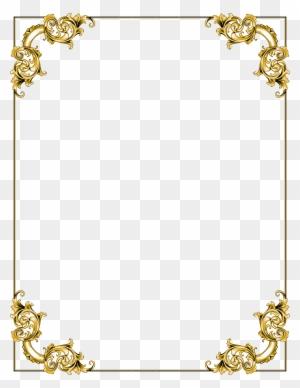 Gold Frame Border Clip Art, Transparent PNG Clipart Images