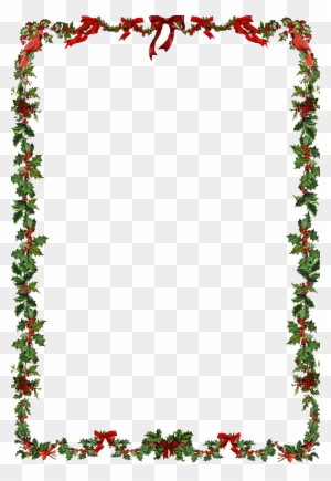 Christmas Frame Png Clipart - Word Document Christmas ...