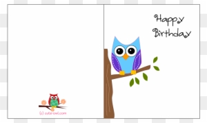 Greeting Cards Printable Owl Birthday Free Card Designs