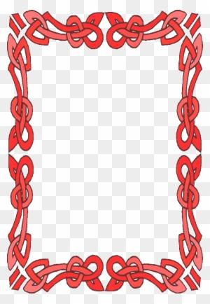 Frames And Borders - Border Design For Valentines - Free Transparent ...