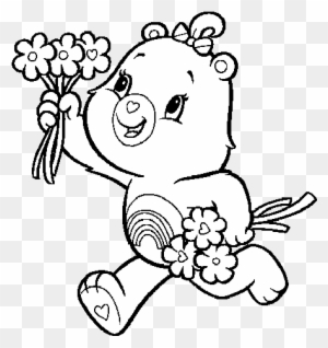 Care Bears Tenderheart Bear Coloring Pages Printable | 318x300