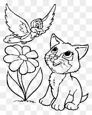 Cute Kittens Playing Cute Cats Coloring Pages Free Transparent