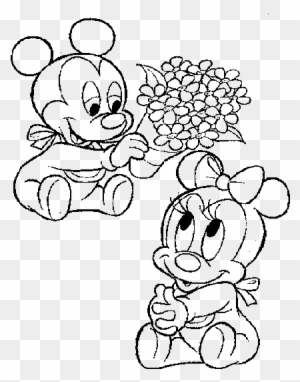 Mickey Hugging Baby Minnie And Mickey Free Transparent Png