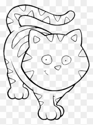 Funny Cat Cartoon Animal Coloring Pages Coloring Pages - Gatito Para ...