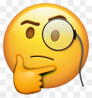 Rich Thinking Emoji Face Emoji Apple Free Transparent