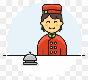 41 Hotel Receptionist Male Asian Cartoon Free Transparent Png Clipart Images Download