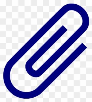navy blue paper clip 2 icon file attachment icon png free