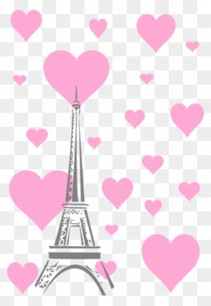 192 1923721 wallpaper lucu pink hearts eiffel tower hi menara eiffel animasi pink