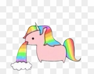 Transparent On Picsart Unicorn Throwing Up Rainbow Free Transparent Png Clipart Images Download