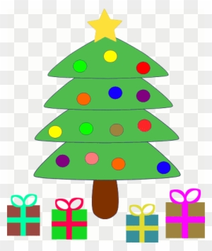 public domain clip art for christmas cute christmas tree with presents