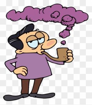 20 200593 purple haze gambar kartun orang merokok