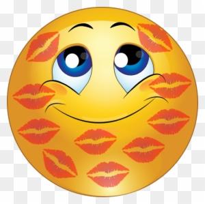 Kissing smiley face emoticon