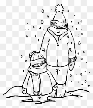 Warm Clothes Winter Coloring For Kids - Drawing Of Winter Clothes ...